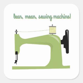 Carne sem gordura, máquina de costura média! adesivos quadrados