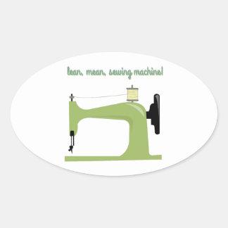 Carne sem gordura, máquina de costura média! adesivos oval