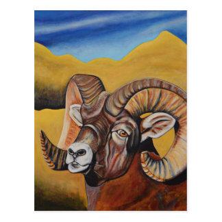Carneiros de Bighorn Cartão Postal