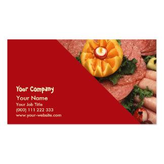 Carnes frias Assorted Cartão De Visita