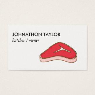 Carniceiro do bife cartão de visitas
