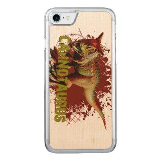 Carnotaurus mau que espirra o verde e o vermelho capa iPhone 8/ 7 carved