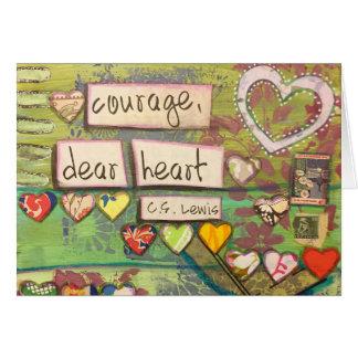 caro cartão do coração