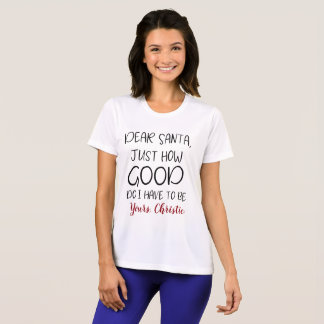 Caro papai noel apenas como boa camisa engraçada