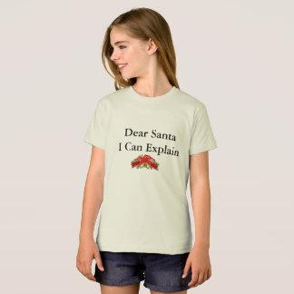 """""""Caro papai noel eu posso explicar"""" o t-shirt Camiseta"""