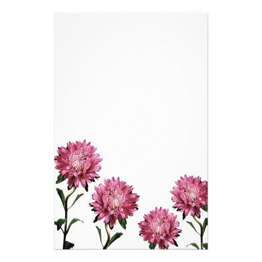 Caro papel de nota cor-de-rosa dos ásteres papelaria personalizada
