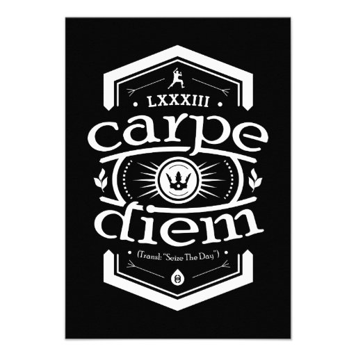 Carpe Diem - convide o cartão - preto Convite Personalizados