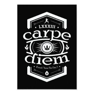 Carpe Diem - convide o cartão - preto Convite 8.89 X 12.7cm