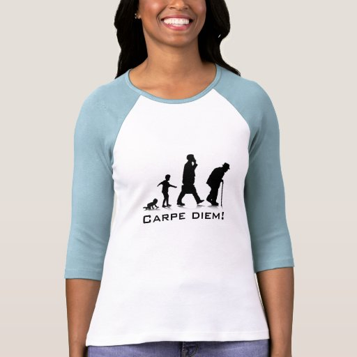 """Carpe Diem!"" Senhoras 3/4 de Raglan da luva cabid Tshirts"