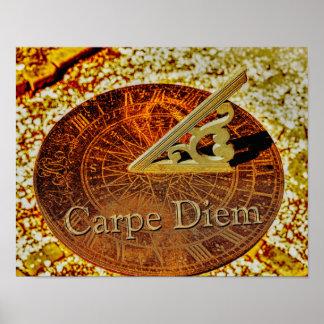Carpe Diem - Sundial - impressão da arte