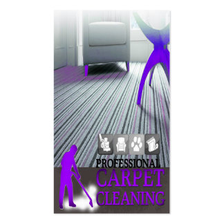 Carpet Cleaning Service Business Card Cartão De Visita