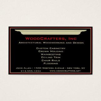 Carpintaria arquitectónica e feita sob encomenda cartão de visitas