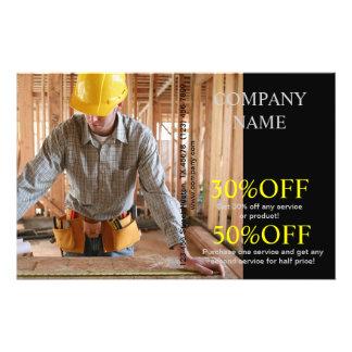 Carpinteiro moderno da carpintaria do trabalhador  panfleto