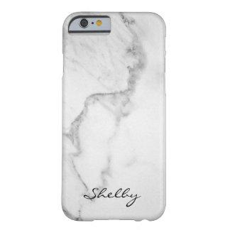Carrara nomeado personalizado caso de mármore do capa barely there para iPhone 6