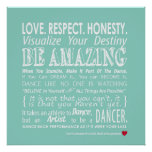 Carrie's Wall of Inspirational Dance Quotes- Aqua Print