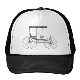 Carrinho antigo puxado a cavalo da carruagem dos 1 boné