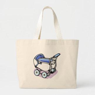 Carrinho azul bolsa de lona