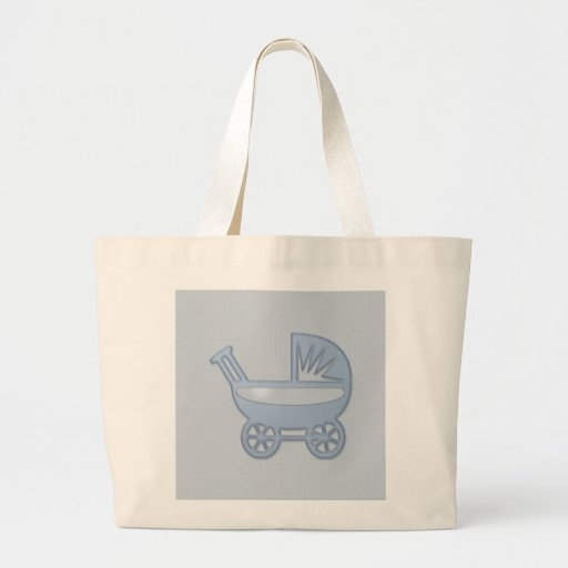 carrinho de bebê azul bolsas para compras