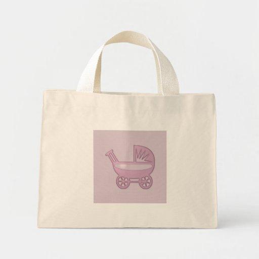 carrinho de bebê cor-de-rosa bolsa