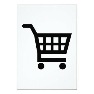 Carrinho de compras convite 8.89 x 12.7cm