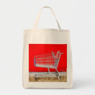 Carrinho de compras sacola tote de mercado