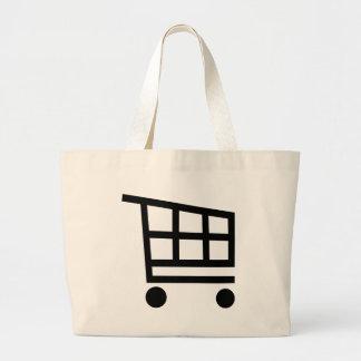 Carrinho de compras sacola tote jumbo
