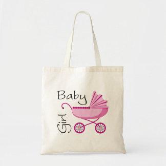 Carrinho de criança cor-de-rosa do bebé bolsa tote