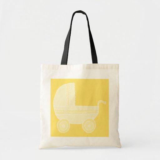 Carrinho de criança de bebê amarelo bolsas de lona