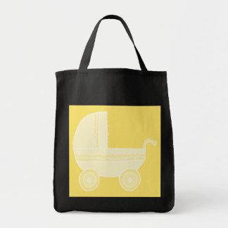 Carrinho de criança de bebê amarelo bolsas para compras