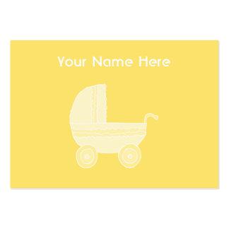 Carrinho de criança de bebê amarelo cartões de visita