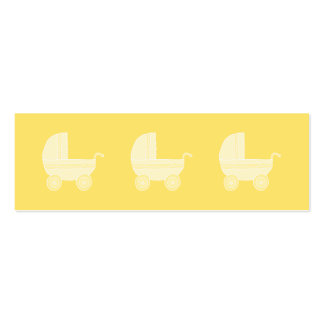 Carrinho de criança de bebê amarelo cartão de visita skinny