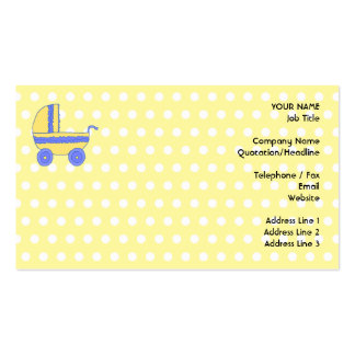 Carrinho de criança de bebê amarelo e azul cartões de visita