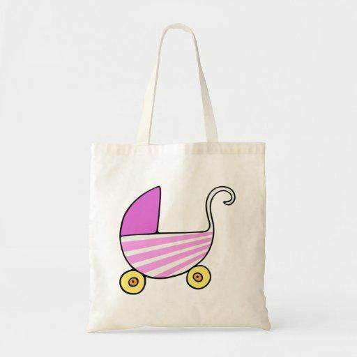 Carrinho de criança de bebê da menina bolsa para compras