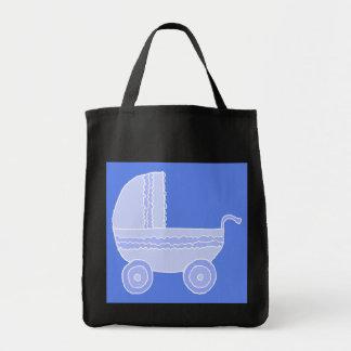 Carrinho de criança de bebê. Luz - azul no azul me Bolsas Para Compras
