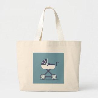 Carrinho de criança simplista sacola tote jumbo