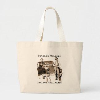 Carrinho de mão Bonnie de Parker & de Clyde Sacola Tote Jumbo