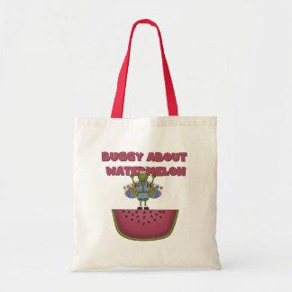 Carrinho sobre a melancia bolsa de lona