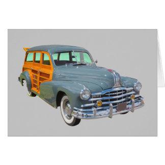 Carro 1948 antigo arborizado da raia de prata de P Cartão Comemorativo