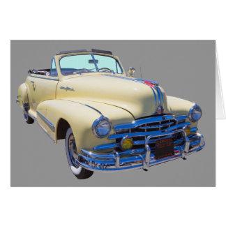 Carro 1948 de prata do Convertible da raia de Cartão Comemorativo