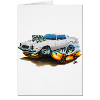 Carro 1974-78 do branco de Camaro Cartao