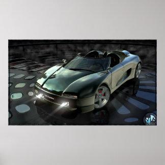 Carro 2002 do conceito pôster