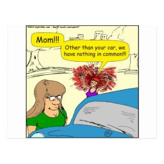 carro 614 em desenhos animados comuns cartão postal
