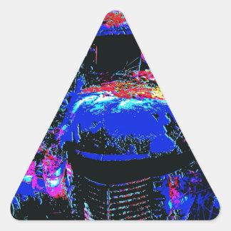 carro 9 jpg do vetor adesivos triângulo