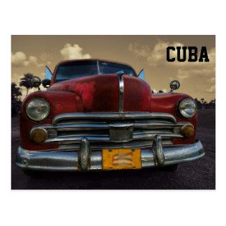 Carro americano clássico em Vinales, Cuba Cartão Postal