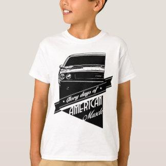 Carro americano do músculo o desafiador 1970 camiseta