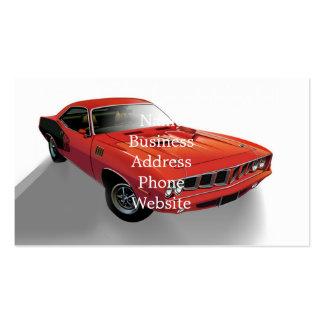 Carro americano vermelho do músculo cartão de visita