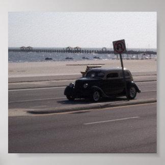 Carro antigo poster