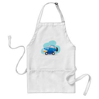 Carro azul avental