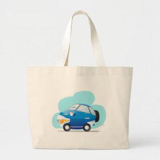 Carro azul bolsa de lona