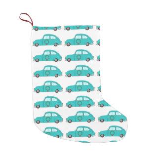 Carro azul com grinalda do Natal Meia De Natal Pequena